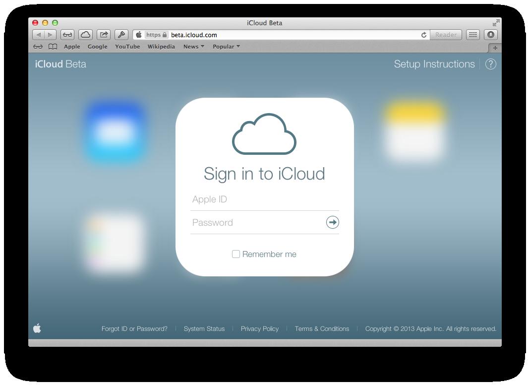 iCloud Beta redesign