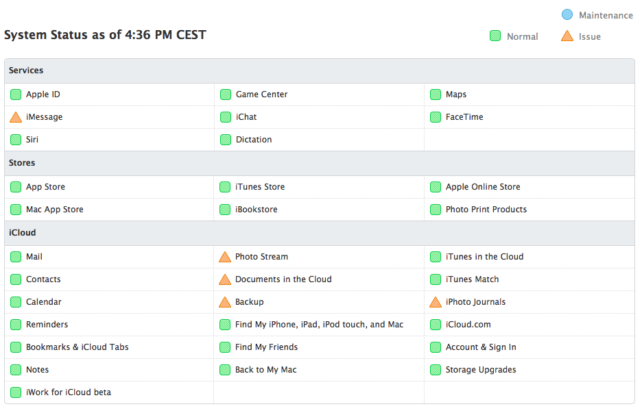 iCloud status page (20130822, image 002)