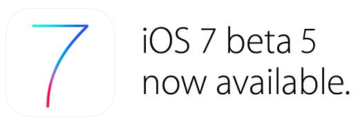 iOS 7 beta 5 available