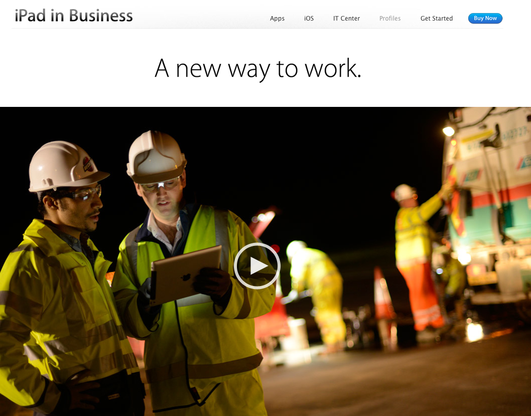 iPad in Business website 002
