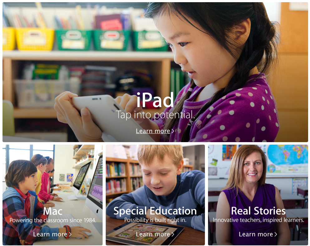 iPad in Education (web screenshot 001)