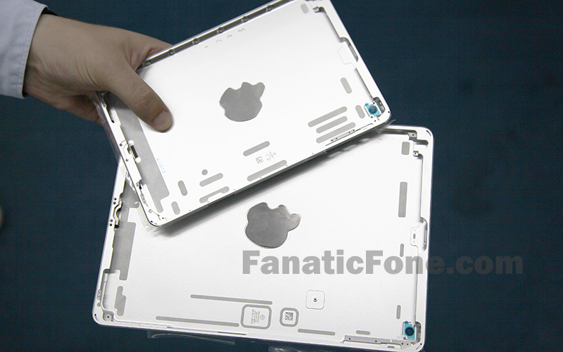 iPad mini 2 backplate (silver, FanaticFone 001)