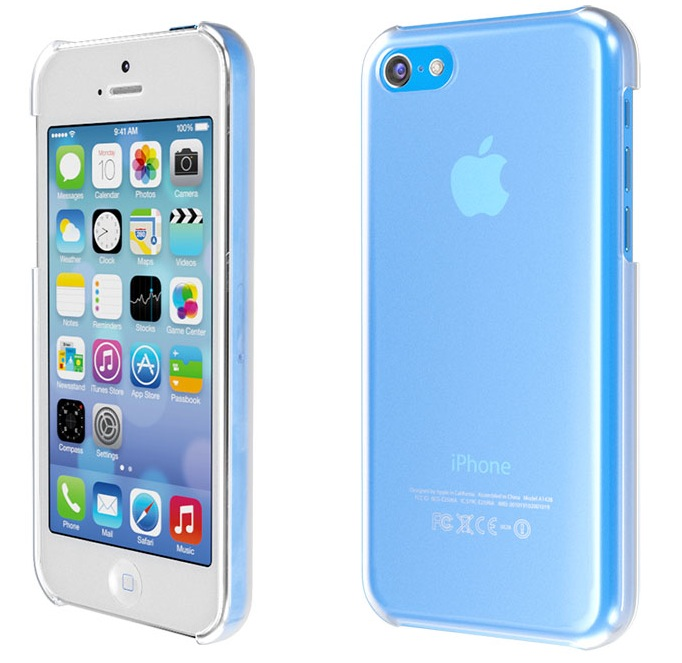 iPhone 5C (blue, protective case, Martin Hajek 001)