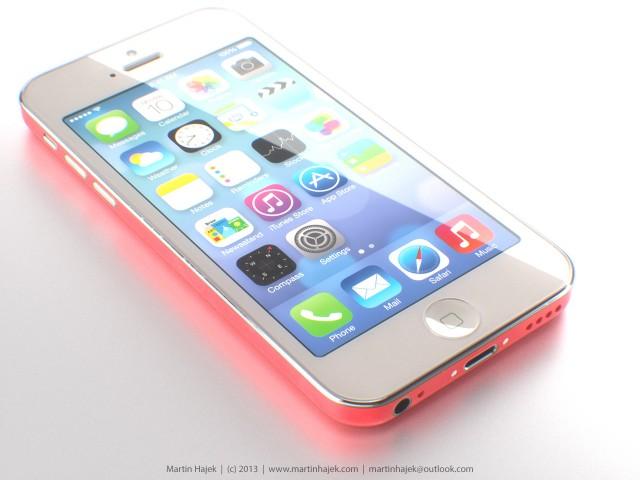 iPhone 5C (pink, front, Martin Hajek 001)
