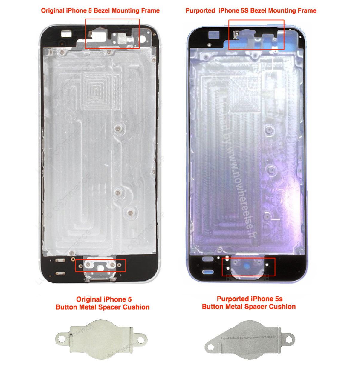 iPhone 5S (back shell, NowhereElse 003)