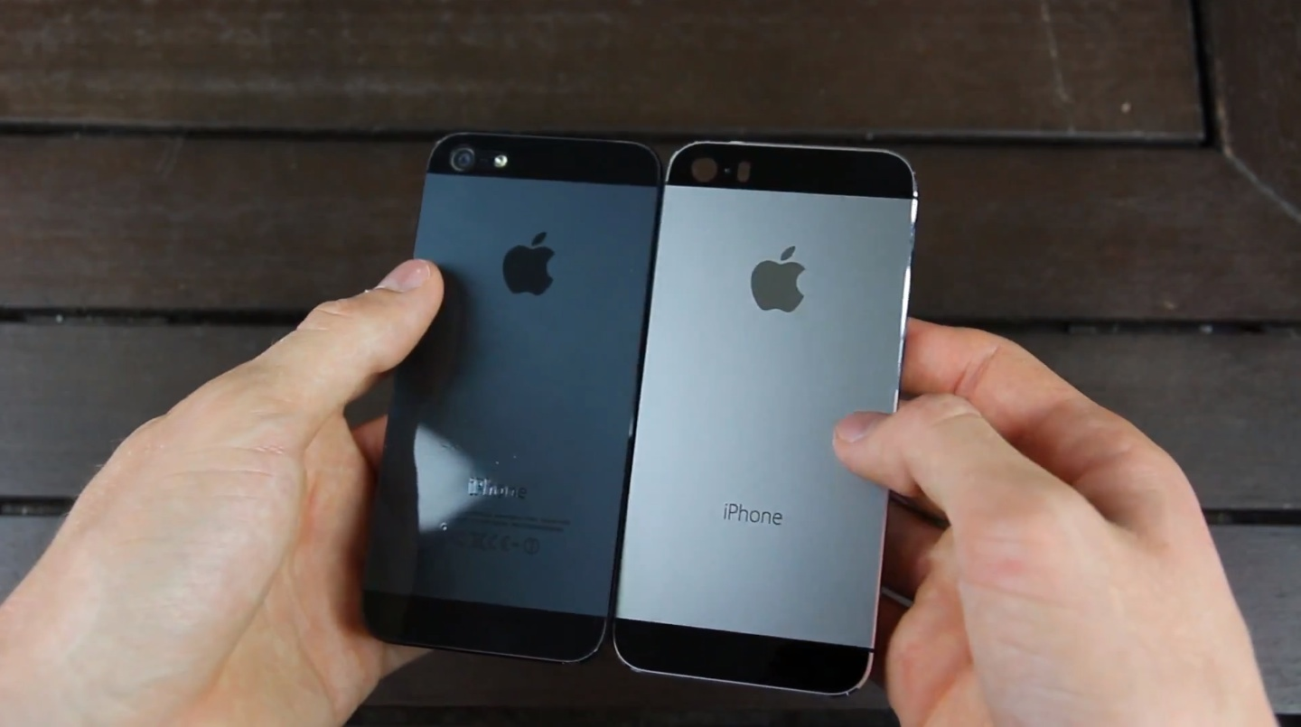 iPhones (black iPhone 5, graphite iPhone 5S)