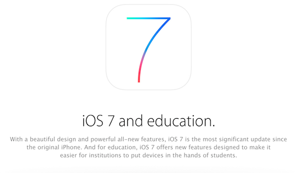 ios 7 education