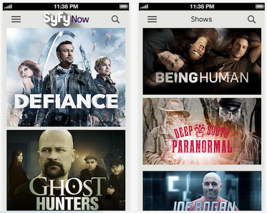 Syfy brings its top TV shows to iOS with Syfy Now