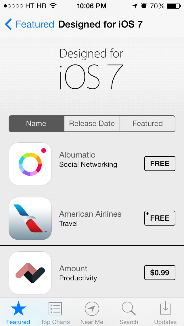 App Store (Designed for iOS 7, Name)