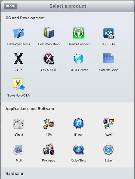 Apple Radar (web screenshot 001)