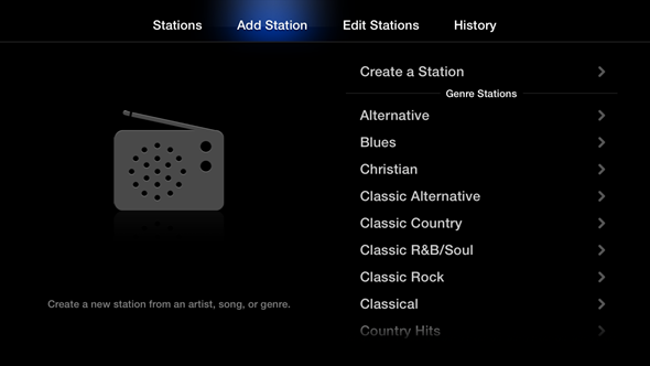 Apple TV 6.0 (Create Station)