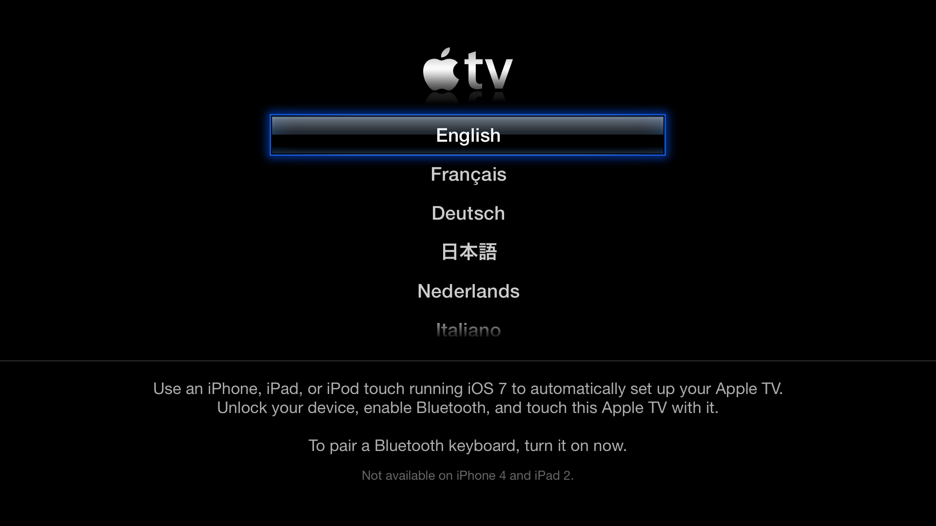 Apple TV (tap to setup 001)