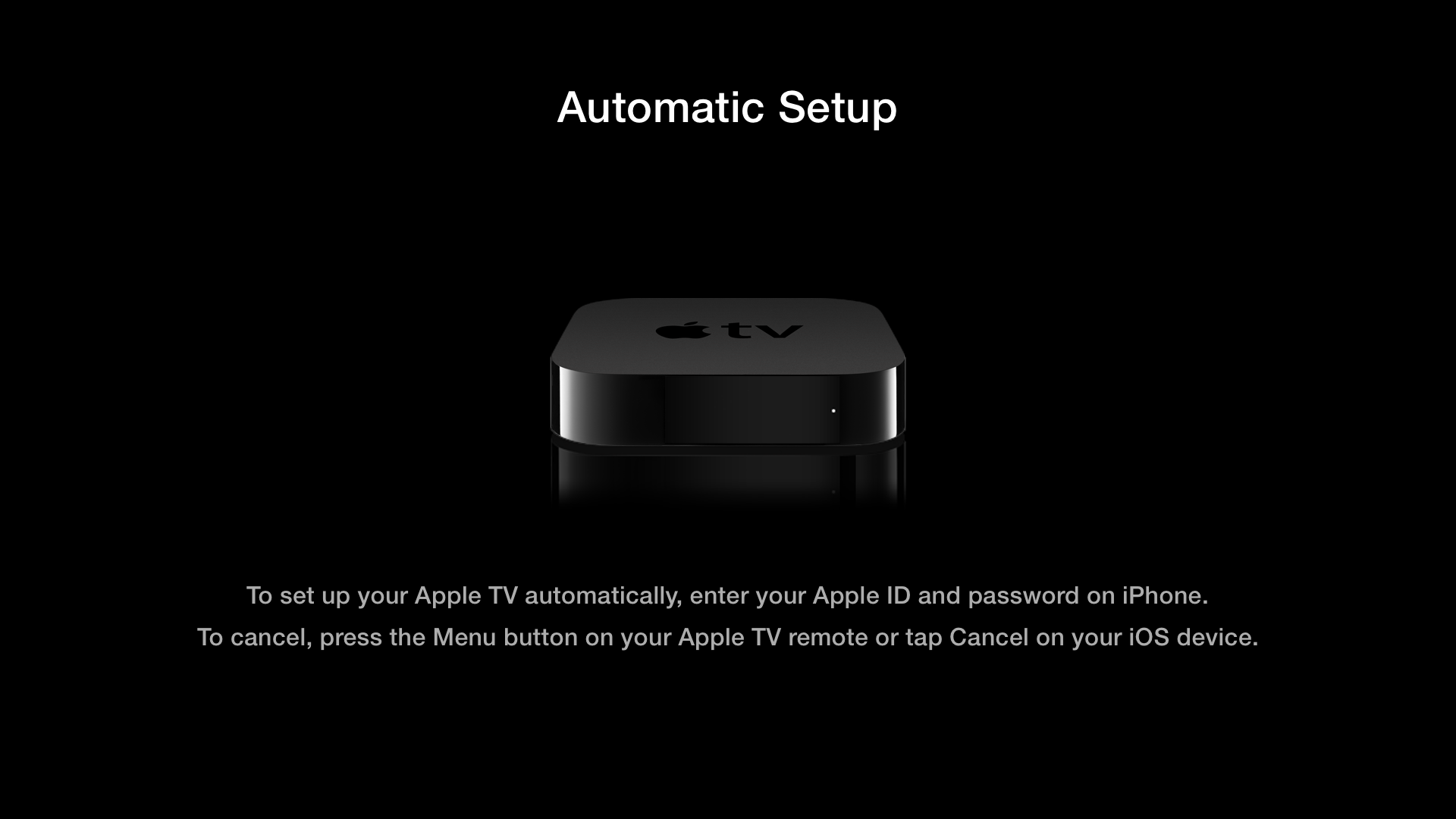 Apple TV (tap to setup 002)