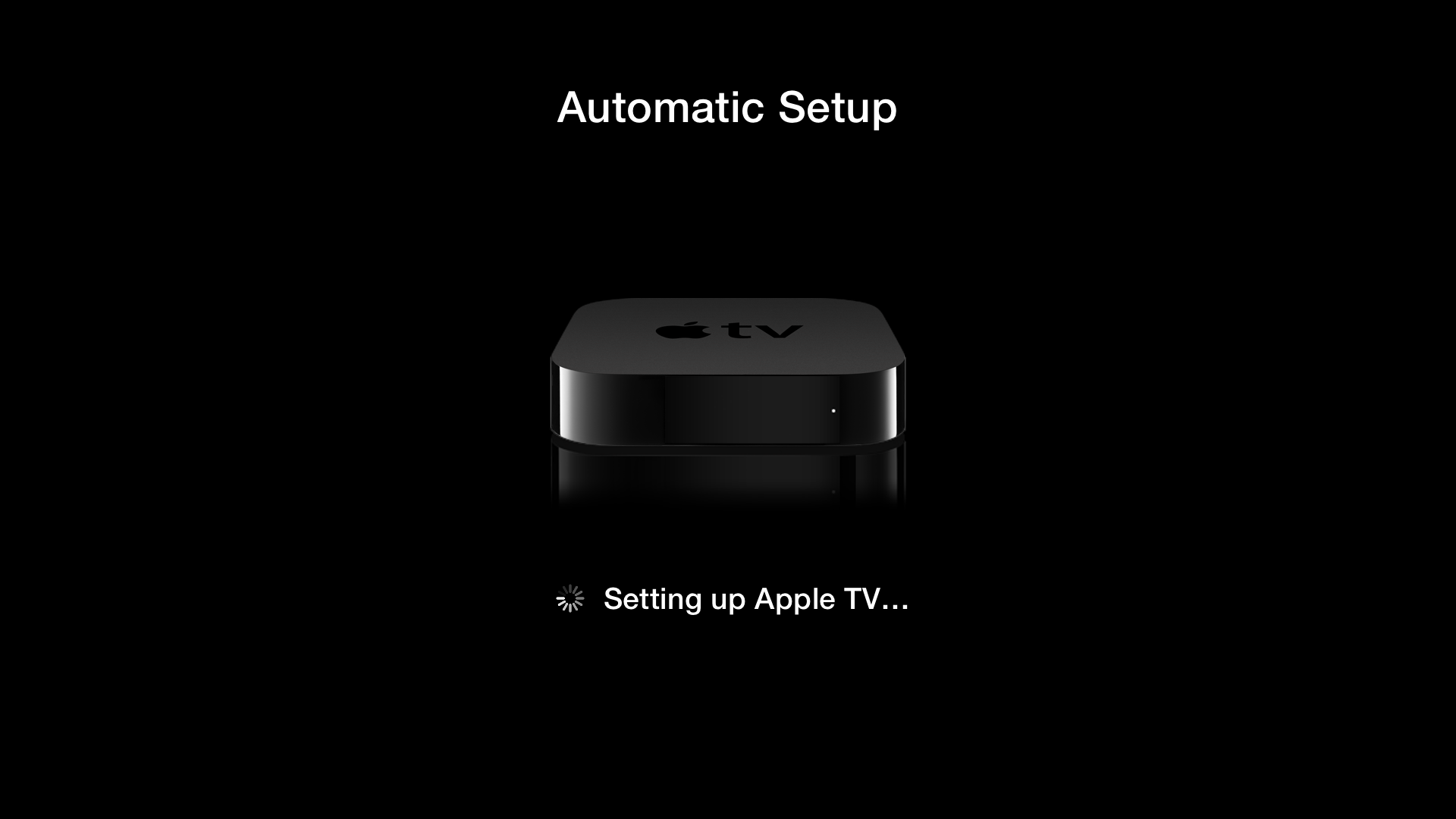 Apple TV (tap to setup 006)