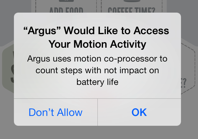 Argus Motion Activity access