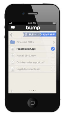 Bump for iOS (iPhone screenshot 001)
