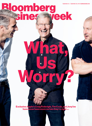 Businessweek (Ive, Cook, Federighi, cover)