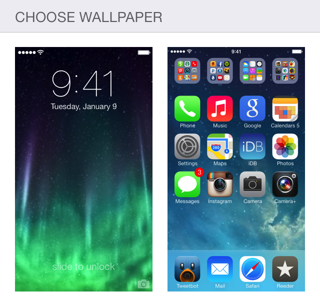 Choose wallpaper