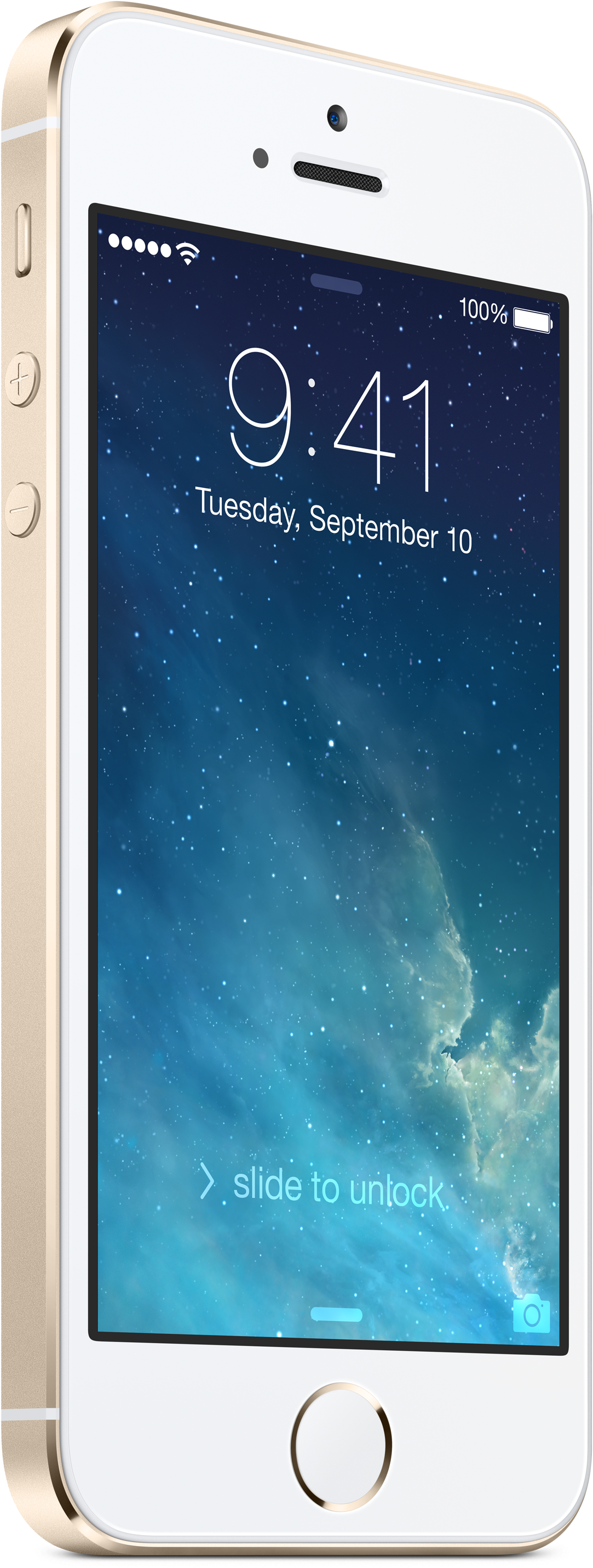 Full gold iPhone 5s standing