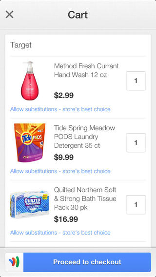Google Shopping Express 1.0 for iOS (iPhone screenshot 003)