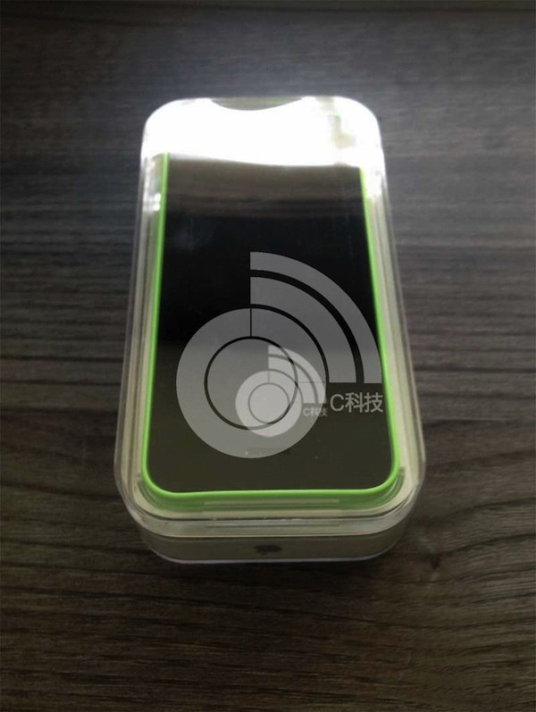 Green iPhone 5C in packaging