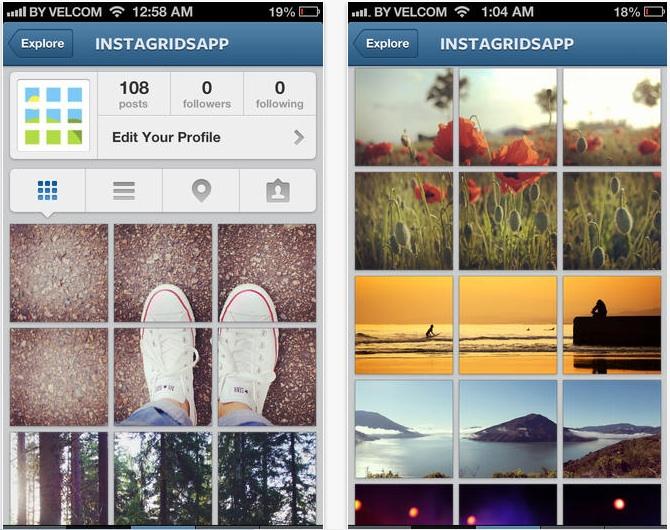 Instagrids Makes Your Instagram Profile Unique