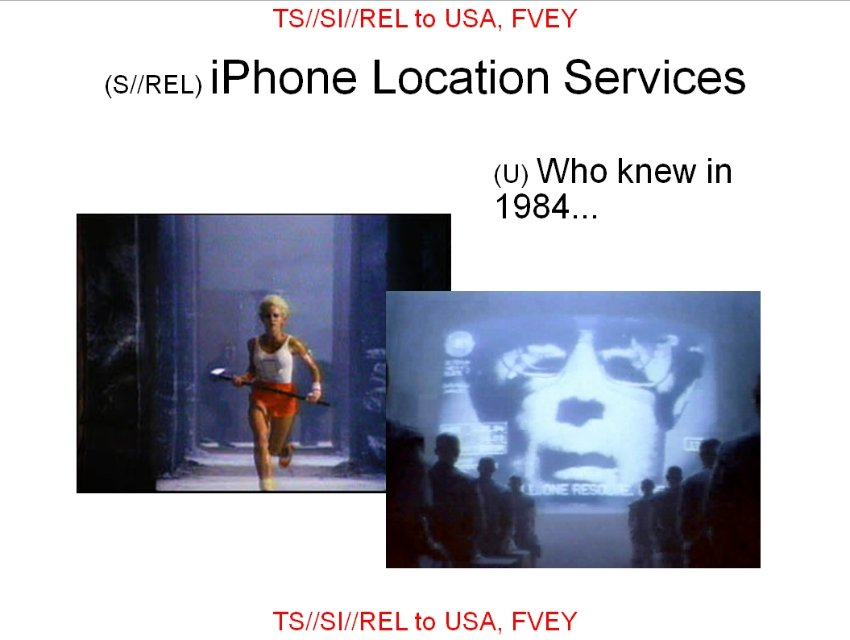 NSA slide (Apple 1984)