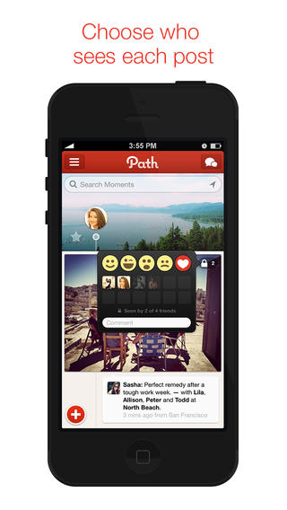 Path 3.2 for iOS (iPhone screenshot 002)