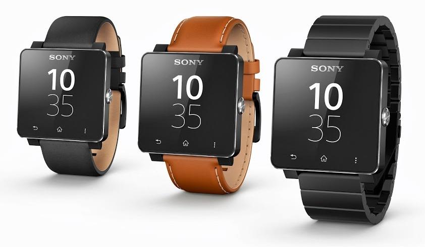 Sony smartwatch (three up)
