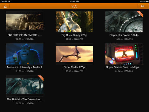 VLC 2.1 for iOS (iPad screenshot 001)
