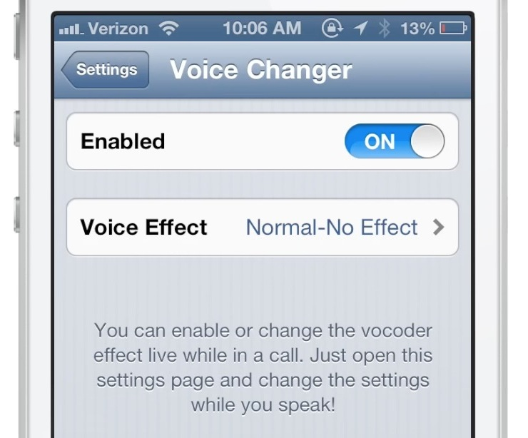 voicechanger brings live voice effects to the phone app. Black Bedroom Furniture Sets. Home Design Ideas