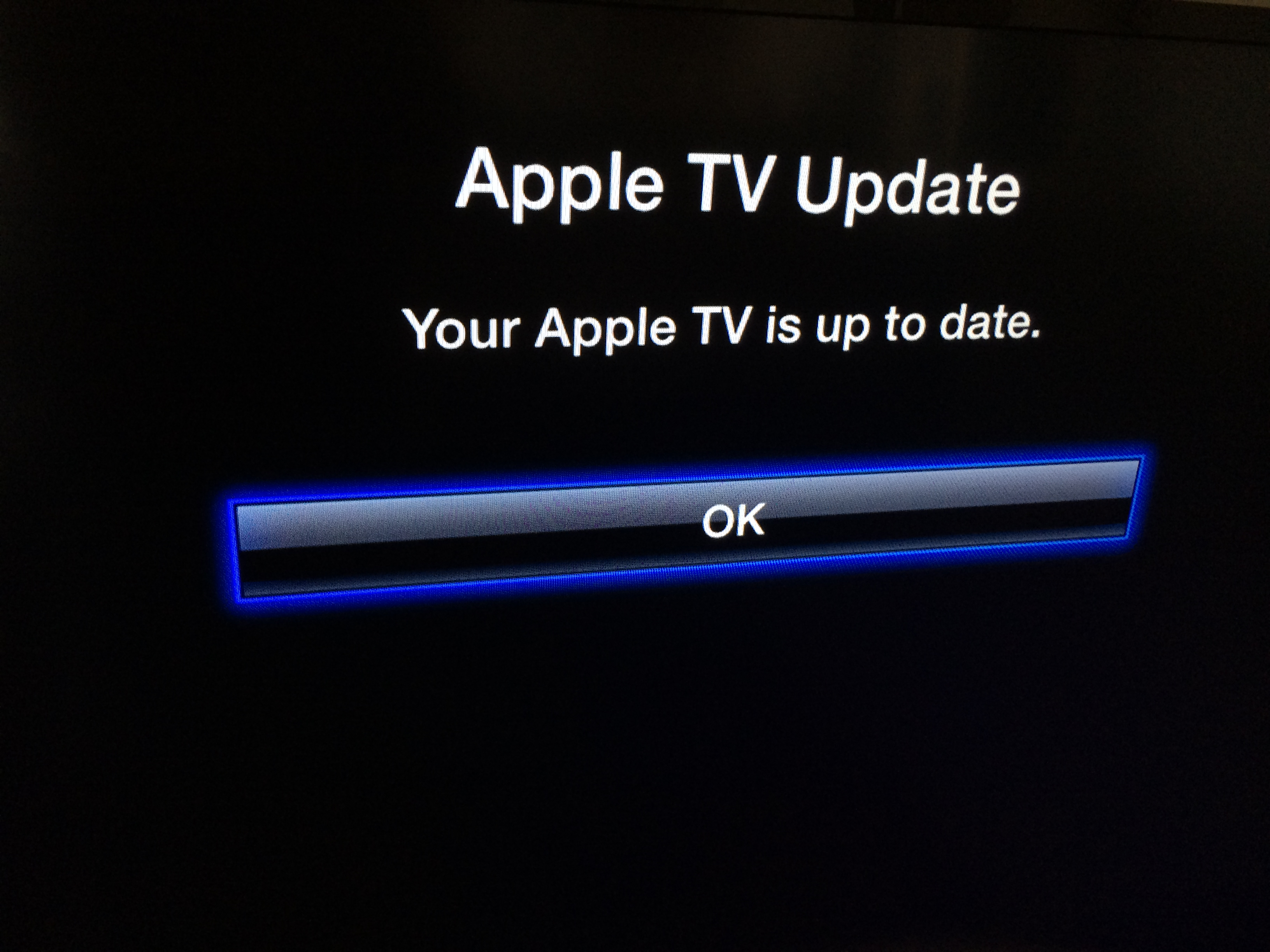 apple tv up to date