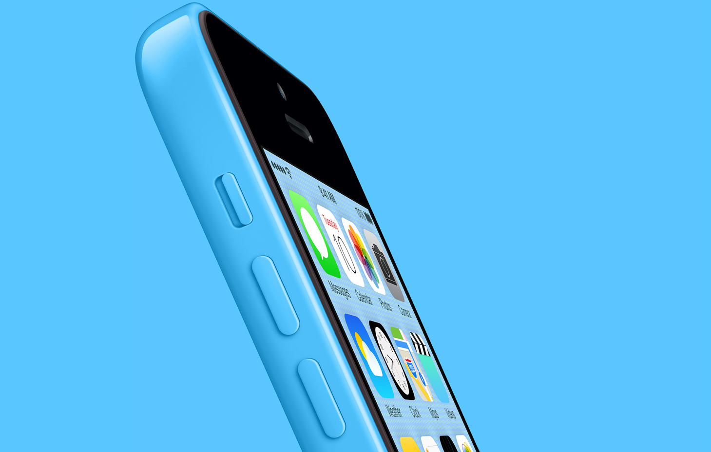 blue iPhone 5c blue background