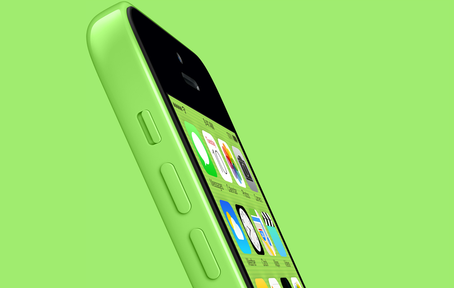 green iPhone 5c green background