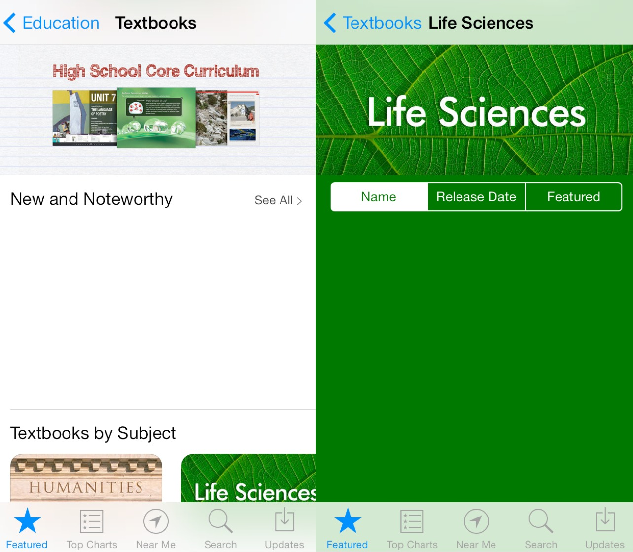 iBooks Textbooks for iPhone (screenshot 001)