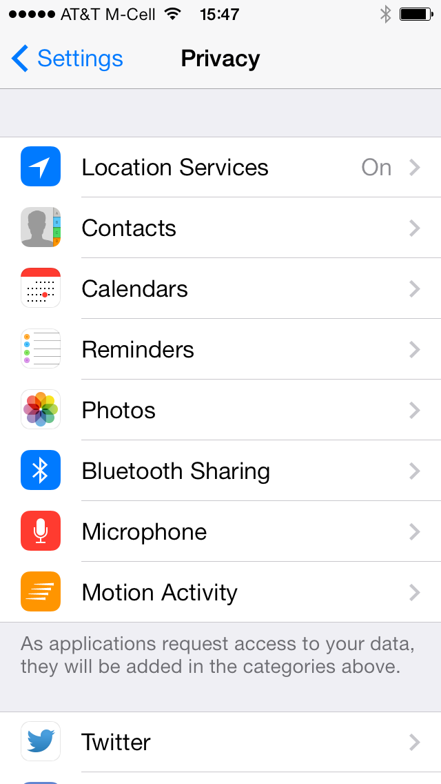 iOS 7 (Settings, Motion Activity 002)