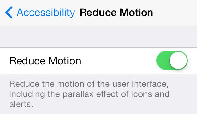 iOS 7 (Configuración, Reduce Motion 003)