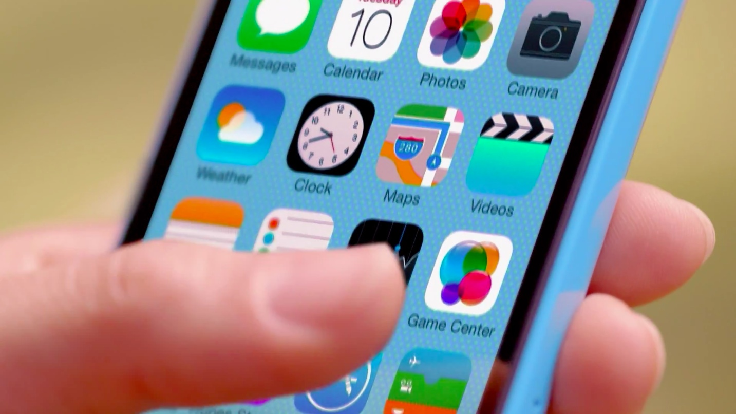 iOS 7 teaser (iPhone 5c ad 007)