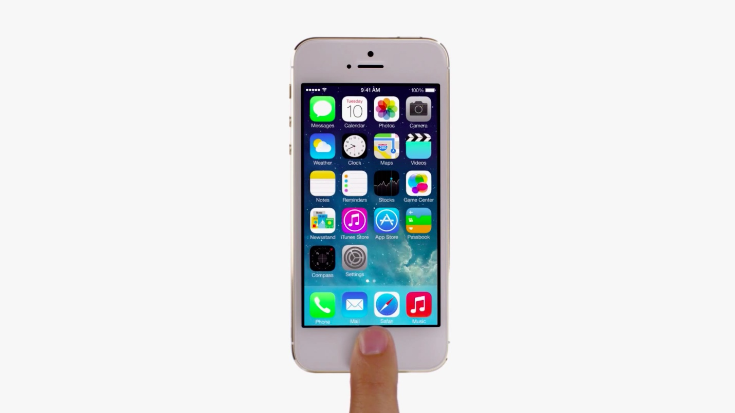 iOS 7 teaser (iPhone 5s ad 001)