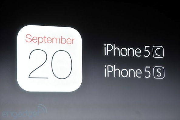 iPhone 5C in store september 20