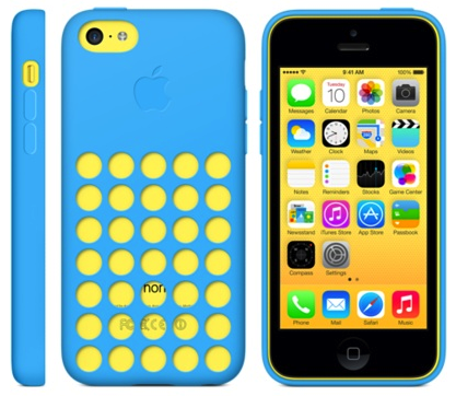 iPhone 5c Blue Yellow