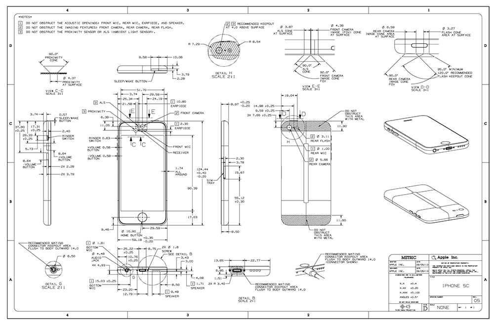 iPhone 5c schematics (image 001)