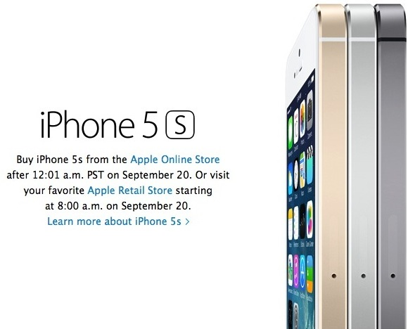 iPhone 5s order september 20 8am