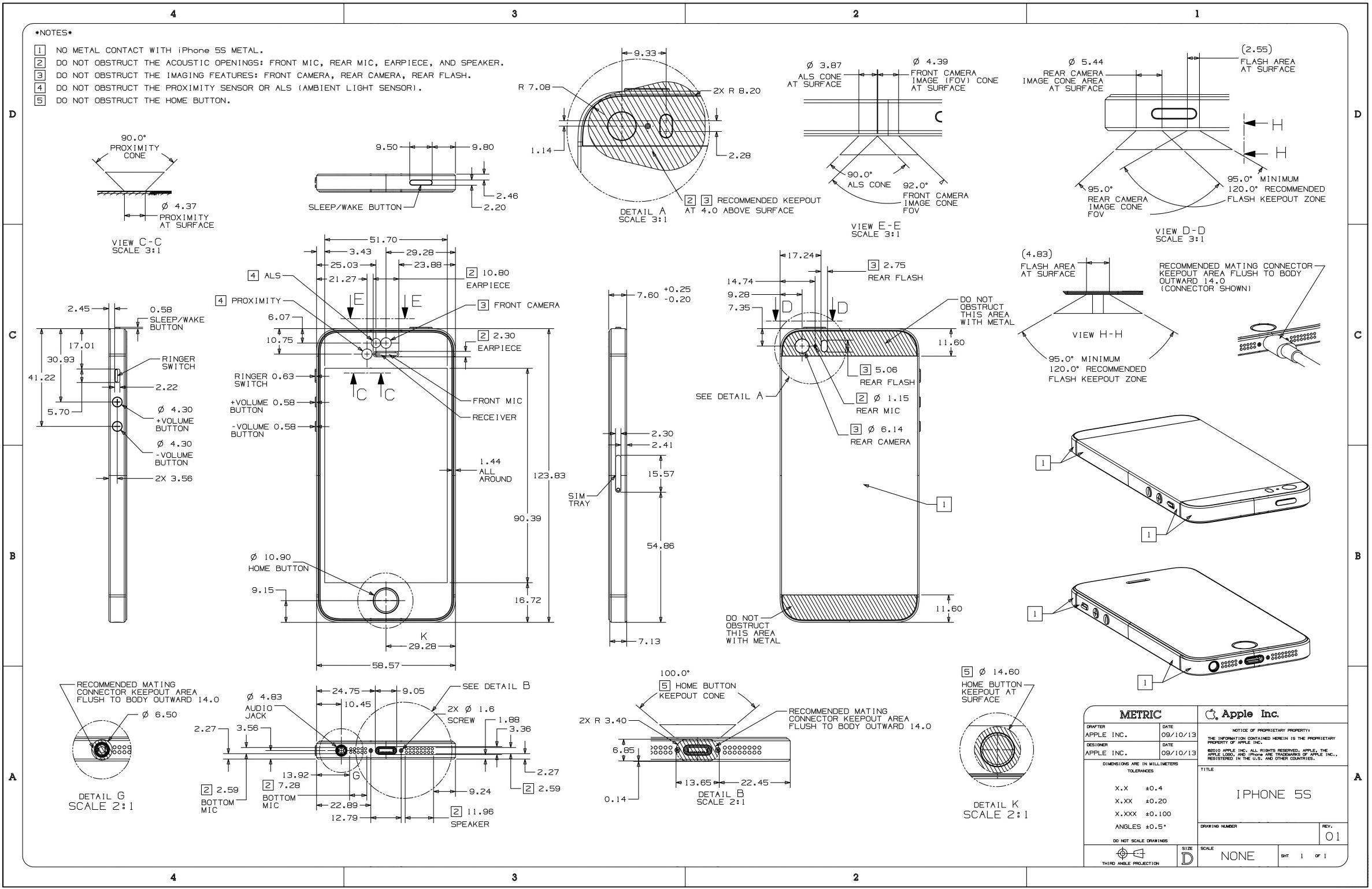 iPhone 5s schematics (image 001)