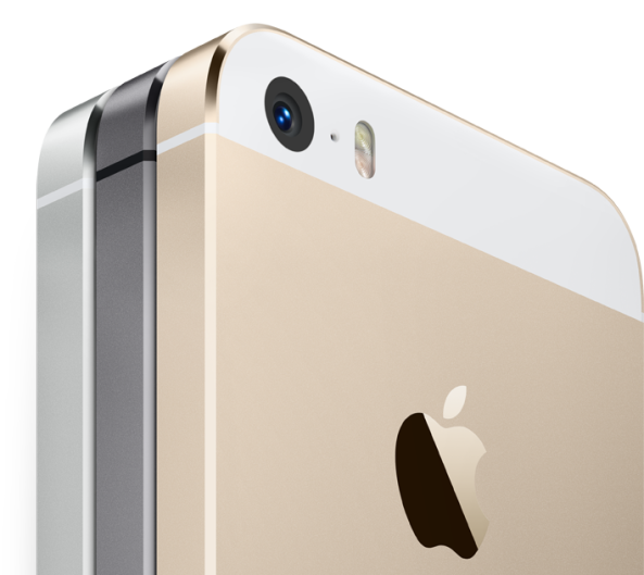 iPhone 5s side by side gold in front