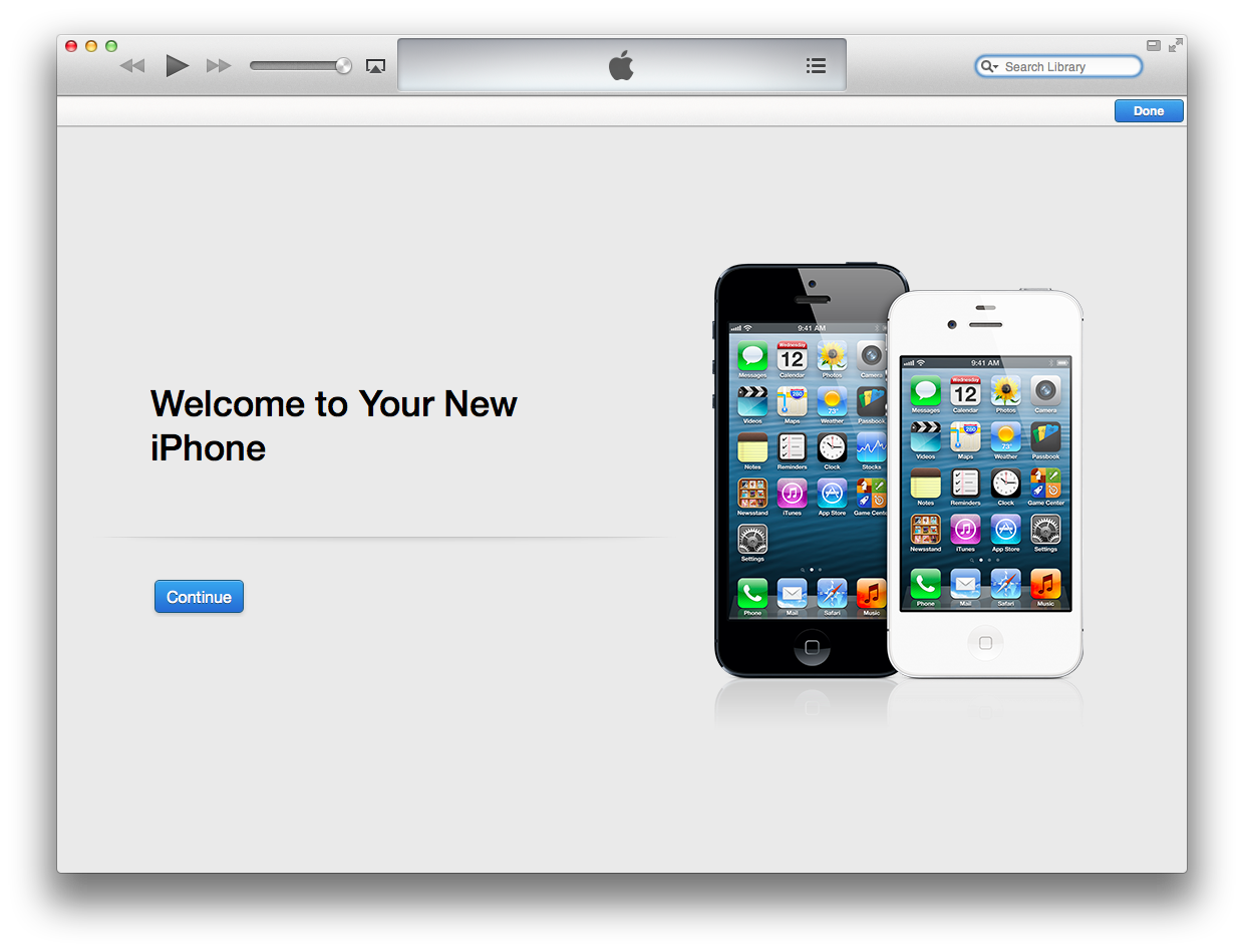 iTunes 11 (Welcome to your new phone)