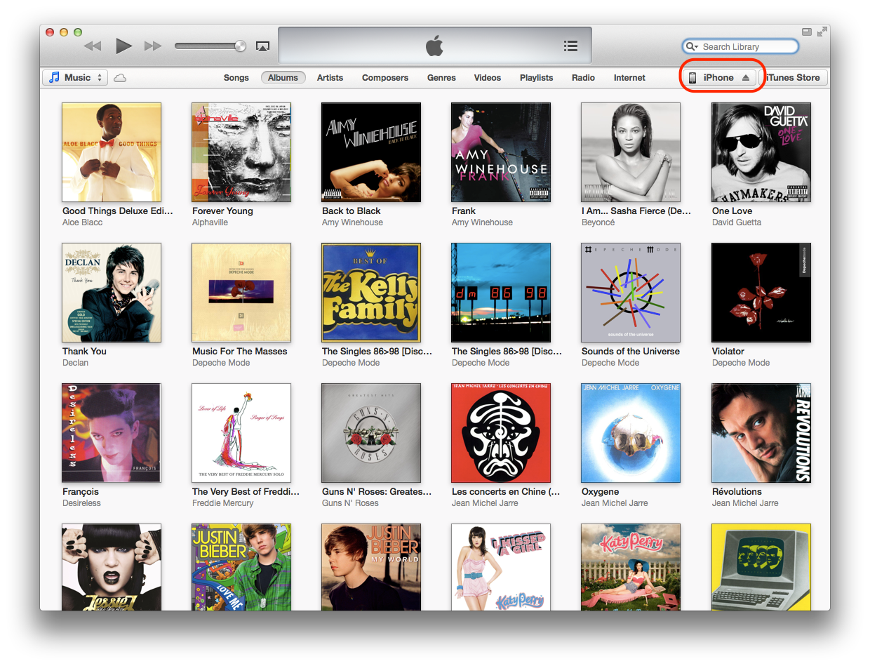iTunes 11 (iPhone tethered)