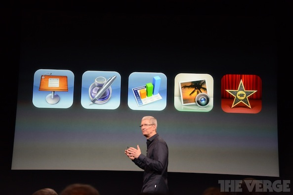 iWork Tim Cook iPhone event