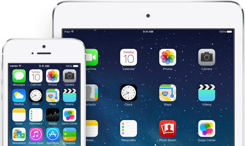 ios 7 white iPhone ipad