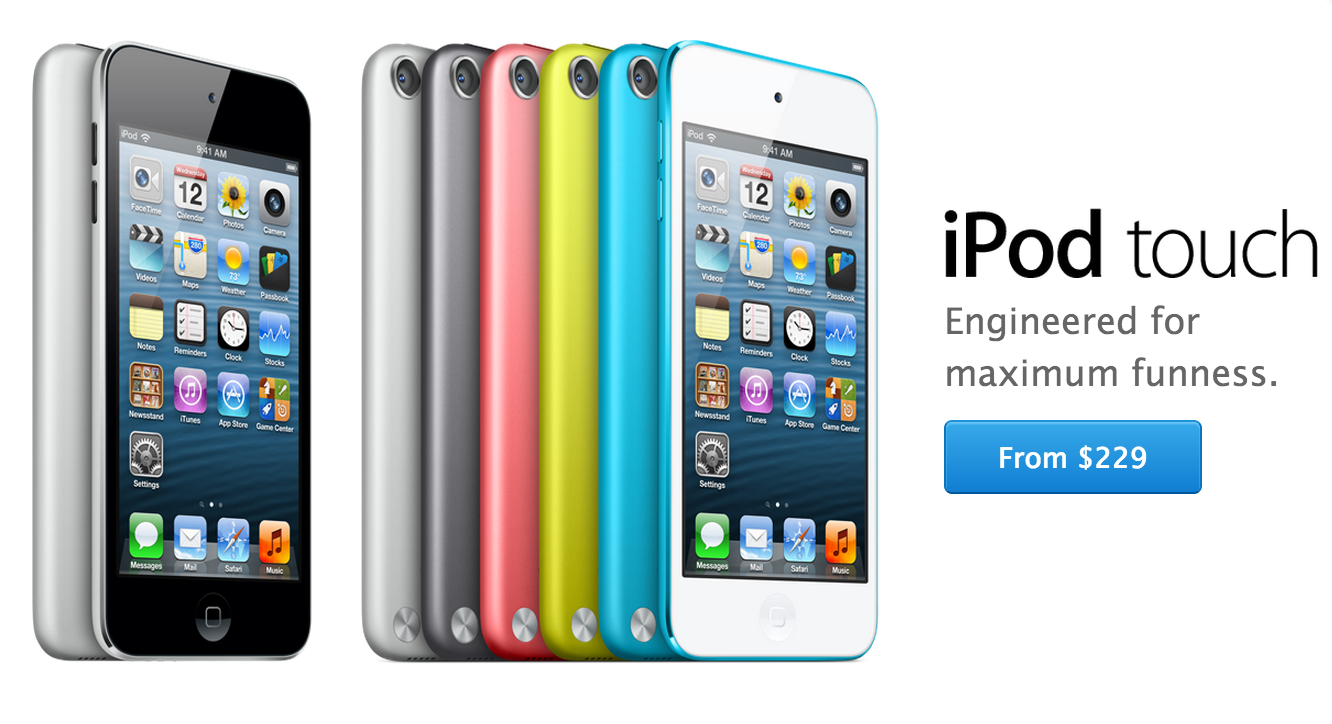 new space gray ipod touch